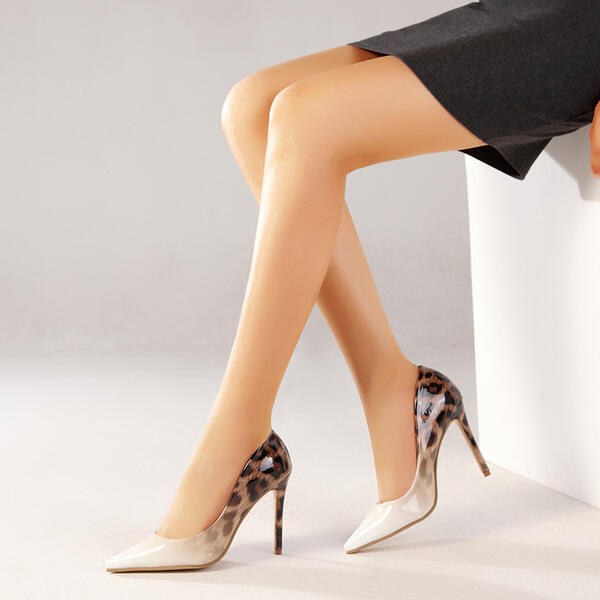 Women's PU Stiletto Heel Pumps Pointed Toe With Splice Color Colorblock shoes