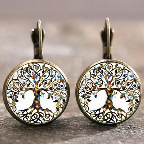 Unique Round Alloy Women's Earrings 2 PCS