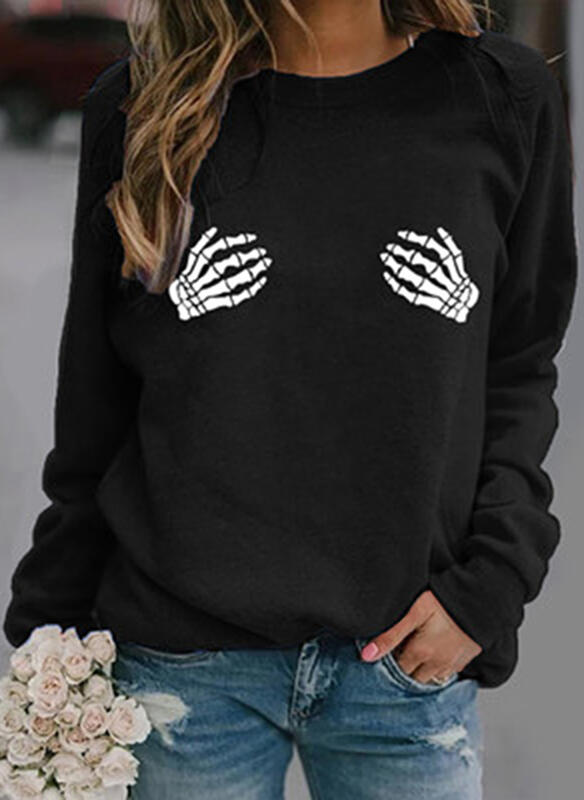Halloween Round Neck Long Sleeves Sweatshirt