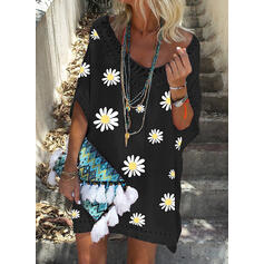 Floral Print V-Neck Sexy Boho Cover-ups Swimsuits