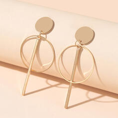 Simple Round Alloy Earrings 2 PCS