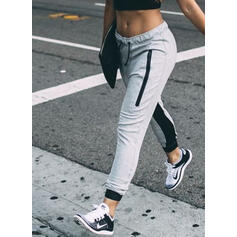 Shirred Drawstring Casual Sporty Pants