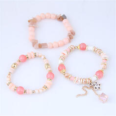 Classic Alloy Beads With Star Bracelets (Set of 3)