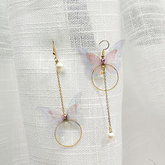 Chic Alloy Imitation Pearls With Imitation Pearl Women's Fashion Earrings (Set of 2)