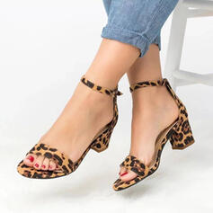 PU Chunky Heel Sandals Pumps With Others shoes
