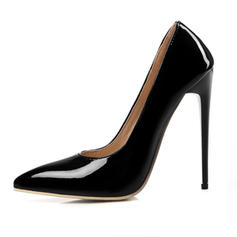 Women's Patent Leather Stiletto Heel Pumps With Solid Color shoes