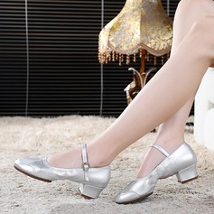 Women's Character Shoes Pumps With Ankle Strap Ballroom
