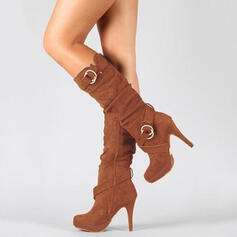 Women's Suede Stiletto Heel Boots With Zipper shoes