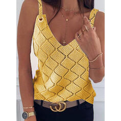 Solid Strap Casual Vest/Sleeveless
