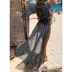 Dot Long-sleeve Sexy Cover-ups Swimsuits