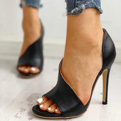 Women's PU Stiletto Heel Sandals Pumps With Others shoes