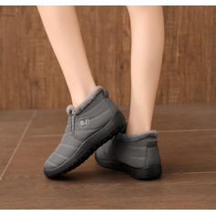 Women's Canvas Flat Heel Flats Boots With Others shoes