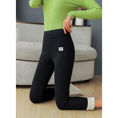 Solid Plus Size Sexy Vintage Stretchy Leggings