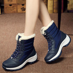 Women's Canvas Wedge Heel Boots With Lace-up shoes