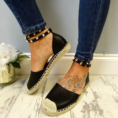 Women's Suede Low Heel Sandals Flats Round Toe With Rivet shoes