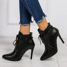 Women's PU Stiletto Heel Boots With Split Joint shoes