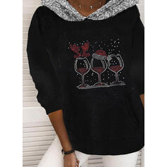 Sequins Long Sleeves Christmas Sweatshirt