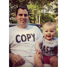 Daddy and Me Letter Matching T-Shirts