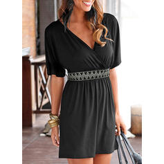 Print 1/2 Sleeves Sheath Above Knee Casual/Vacation Dresses