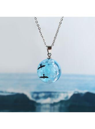 Beautiful Birds Alloy Acrylic Women's Necklaces