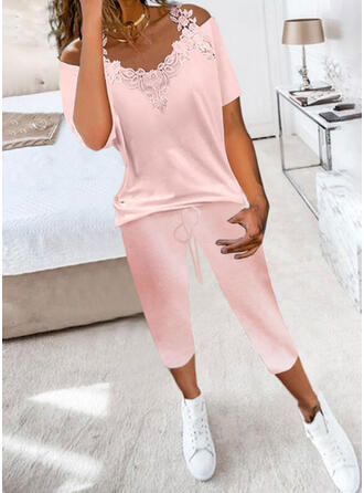 Pockets Solid Casual Sexy Blouse & Two-Piece Outfits Set